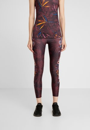 LEGGING POSICIONAL ETHNIC - Legging - ruby wine