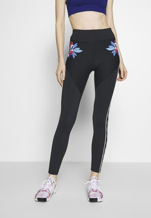 LEGGING WITH FLOWER DETAIL - Collants - azul noche