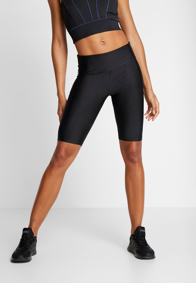 CYCLING LEGGING - kurze Sporthose - black