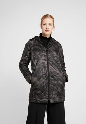 PADDED COAT LONG ARTY - Winterjas - black