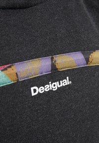 Desigual - HOODIE TAPE PATCH - Felpa aperta - gris vigore oscuro - 6