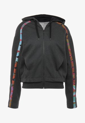 HOODIE TAPE PATCH - Mikina na zip - gris vigore oscuro