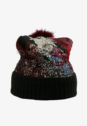 SEQUINFLOWERS - Beanie - black