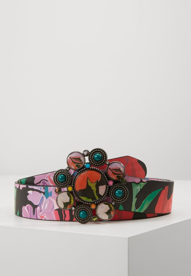 BELT SPORTY FLOWER REVERSIBLE - Gürtel - jet black