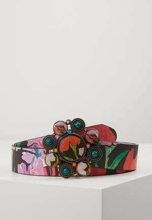 BELT SPORTY FLOWER REVERSIBLE - Vyö - jet black