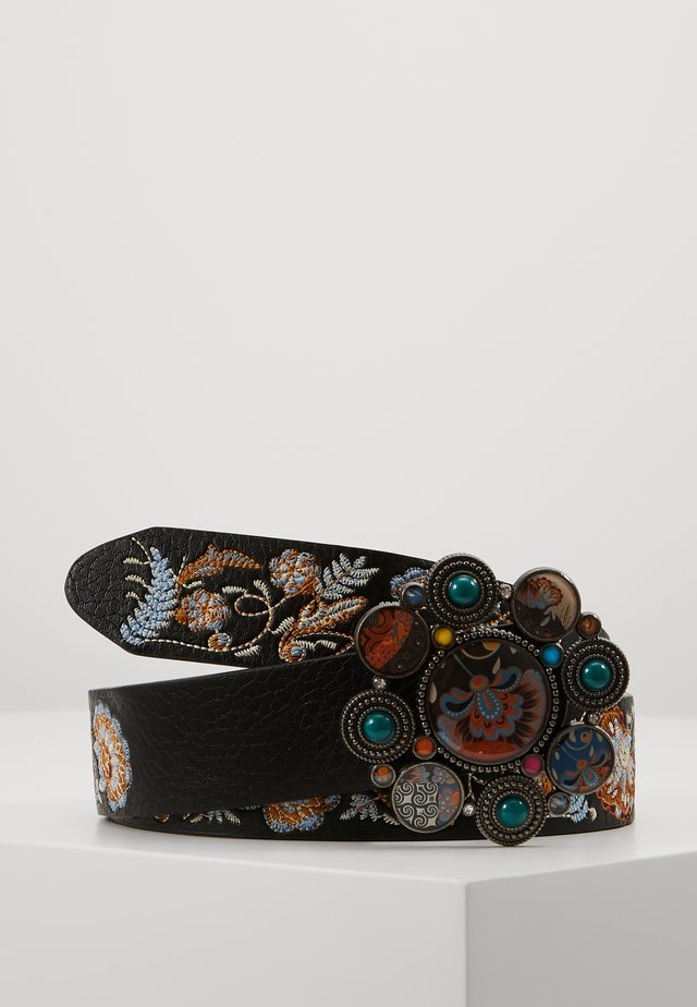 BELT MANDARINAS REVERSIBLE - Pásek - black