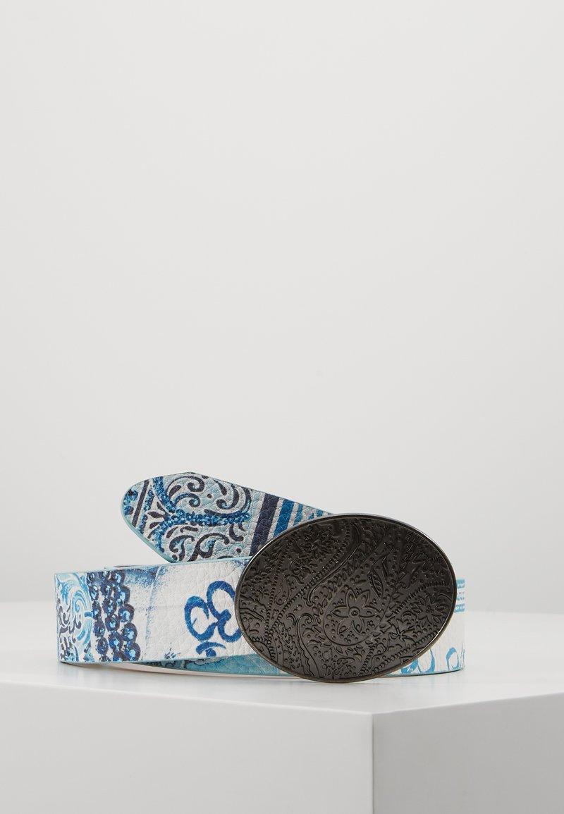 Desigual - BELT NAMASKARA REVERSIBLE - Belt - gris blue