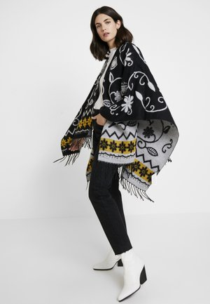 PONCHO BARBARO - Mantella - black
