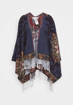 PONCHO TAPESTRY REVERSIBLE - Kapper - blue