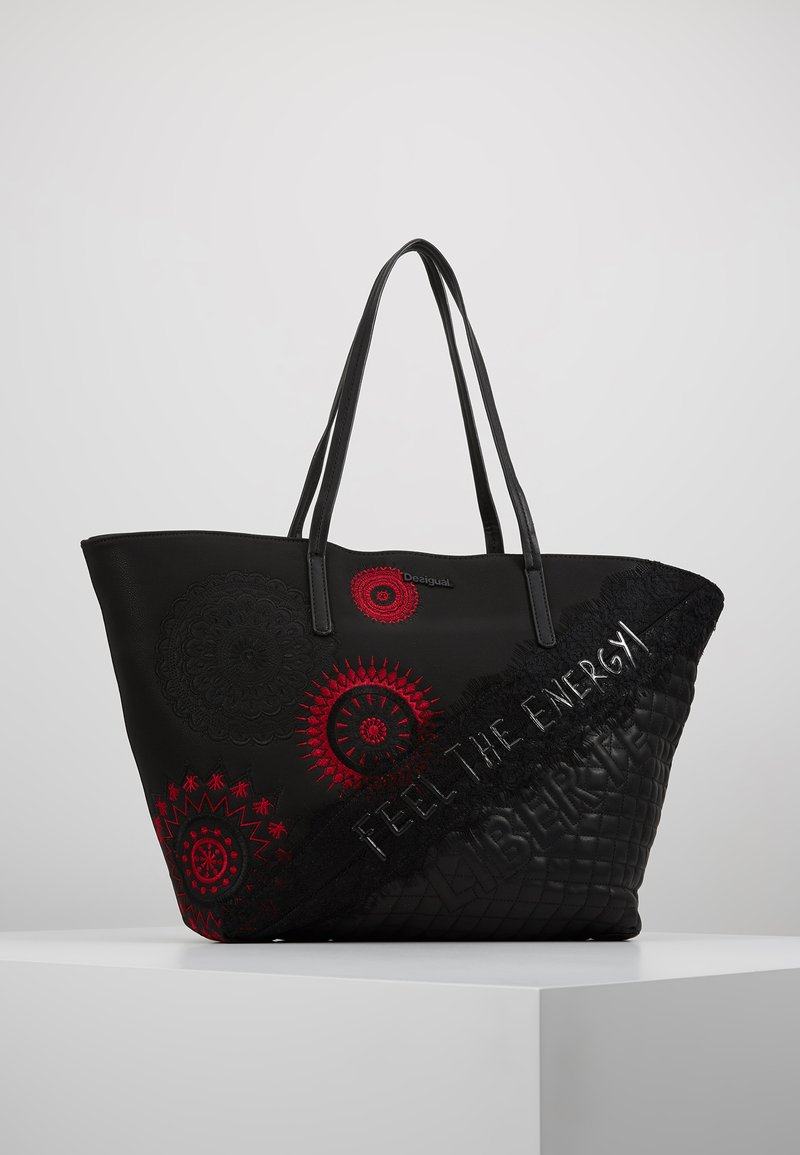 Desigual - BOLS COMUNIKA SICILIA ZIPPER - Shopping Bag - black
