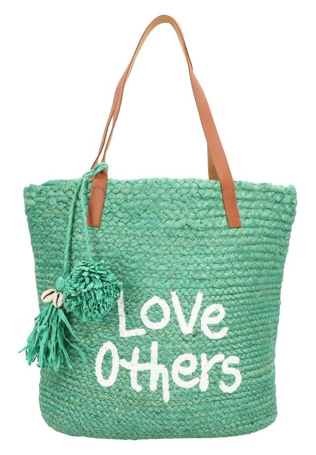 MESSAGE NEW SHAPE SCHULTERTASCHE 41 CM - Shopping bag - verde selva