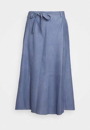 A SKIRT BELT - A-line skirt - shady blue