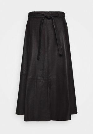 A SKIRT BELT - Spódnica trapezowa - black