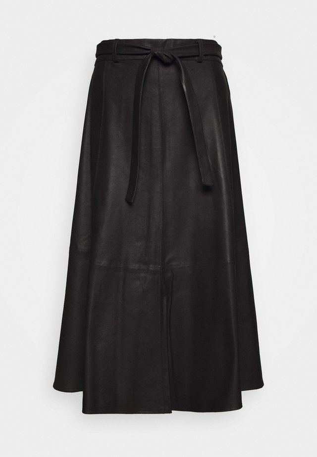 A SKIRT BELT - Áčková sukně - black