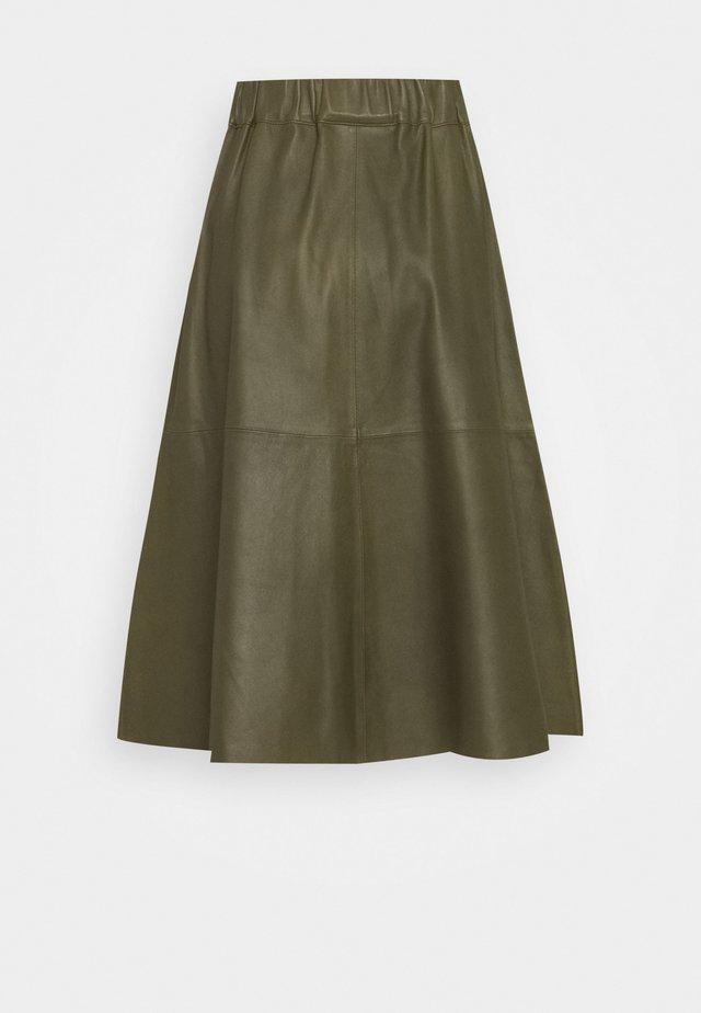 SKIRT - Áčková sukně - leaf green