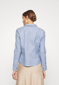 DEPECHE - BUTTONS - Camicia - shady blue - 2