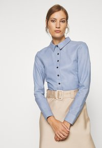 DEPECHE - BUTTONS - Camicia - shady blue - 3