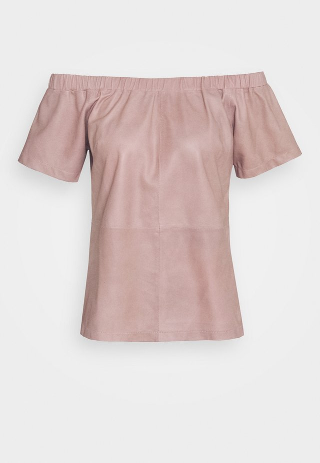 SHORT SLEEVES - Blůza - dusty rose