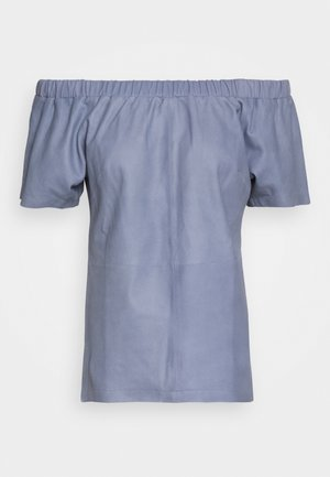 SHORT SLEEVES - Blouse - shady blue