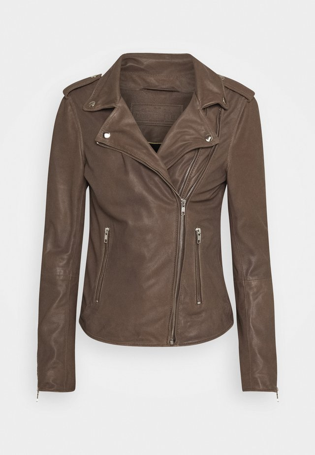 JACKET - Veste en cuir - dusty taupe