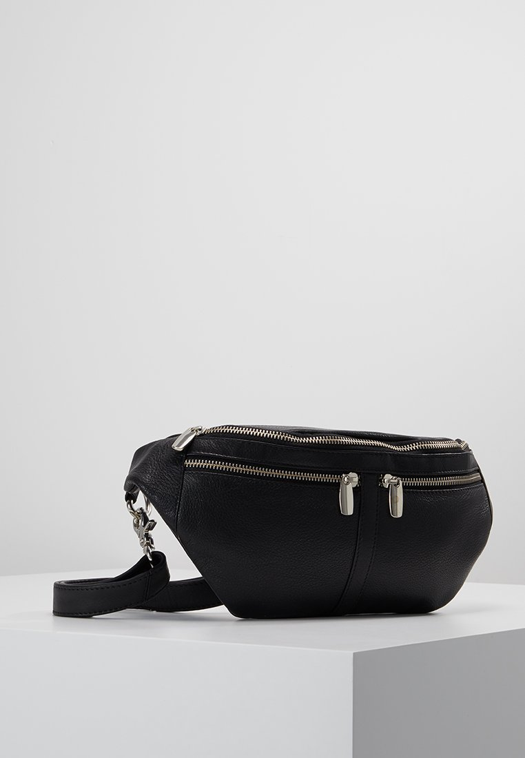 DEPECHE - BUM BAG - Ledvinka - black
