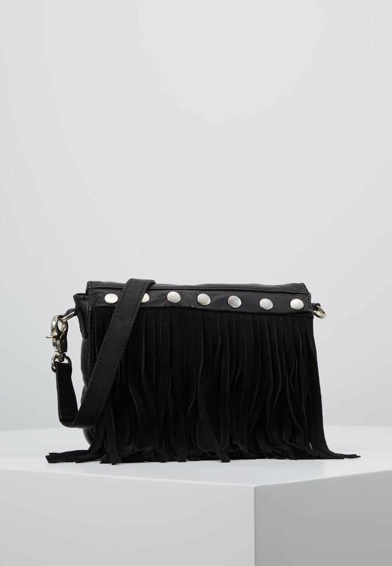 DEPECHE - BOHO CHIC - Umhängetasche - black
