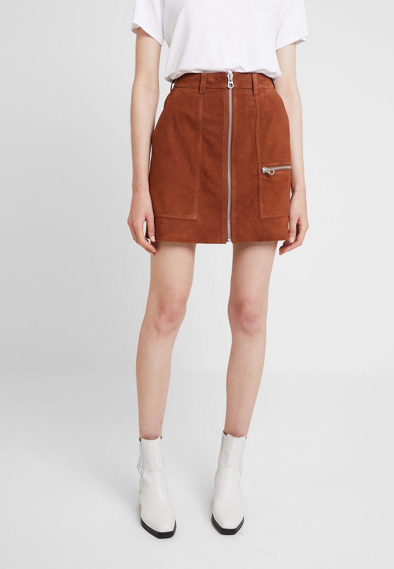 Denham - NORWOOD SKIRT - A-snit nederdel/ A-formede nederdele - tan