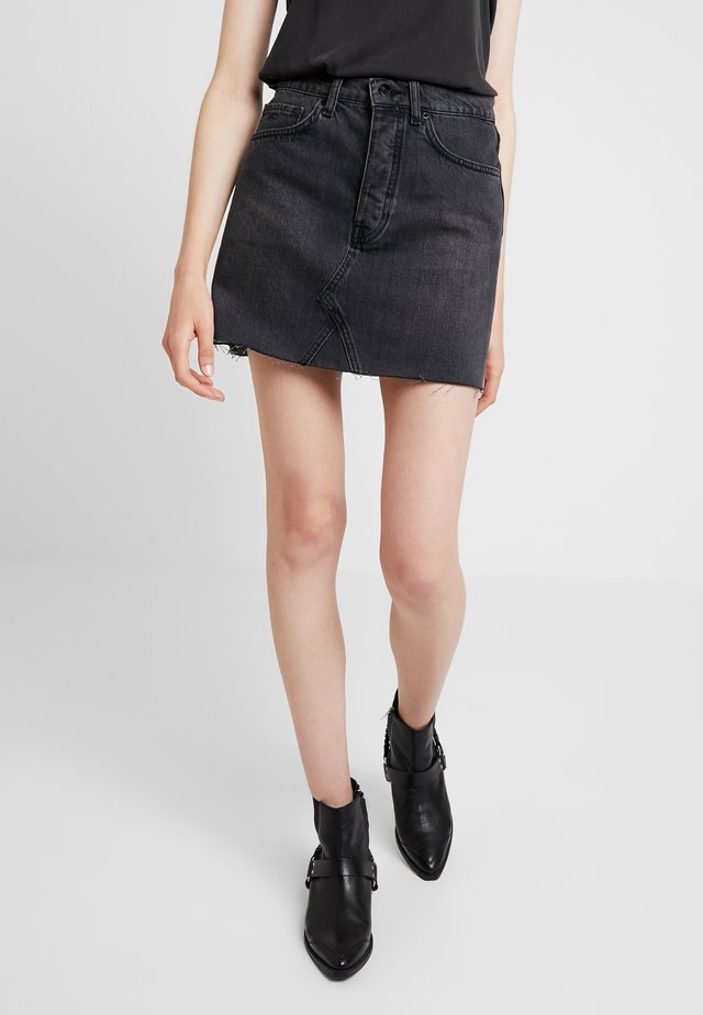PEARL SKIRT - A-Linien-Rock - washed black