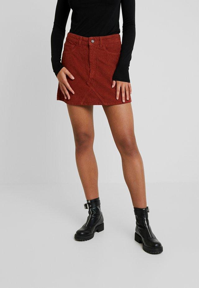 PEARL SKIRT - A-line skirt - cognac