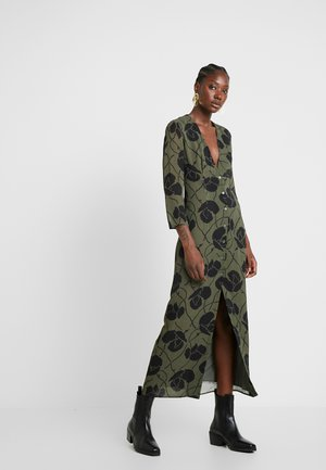 KIKU DRESS - Maksimekko - green block