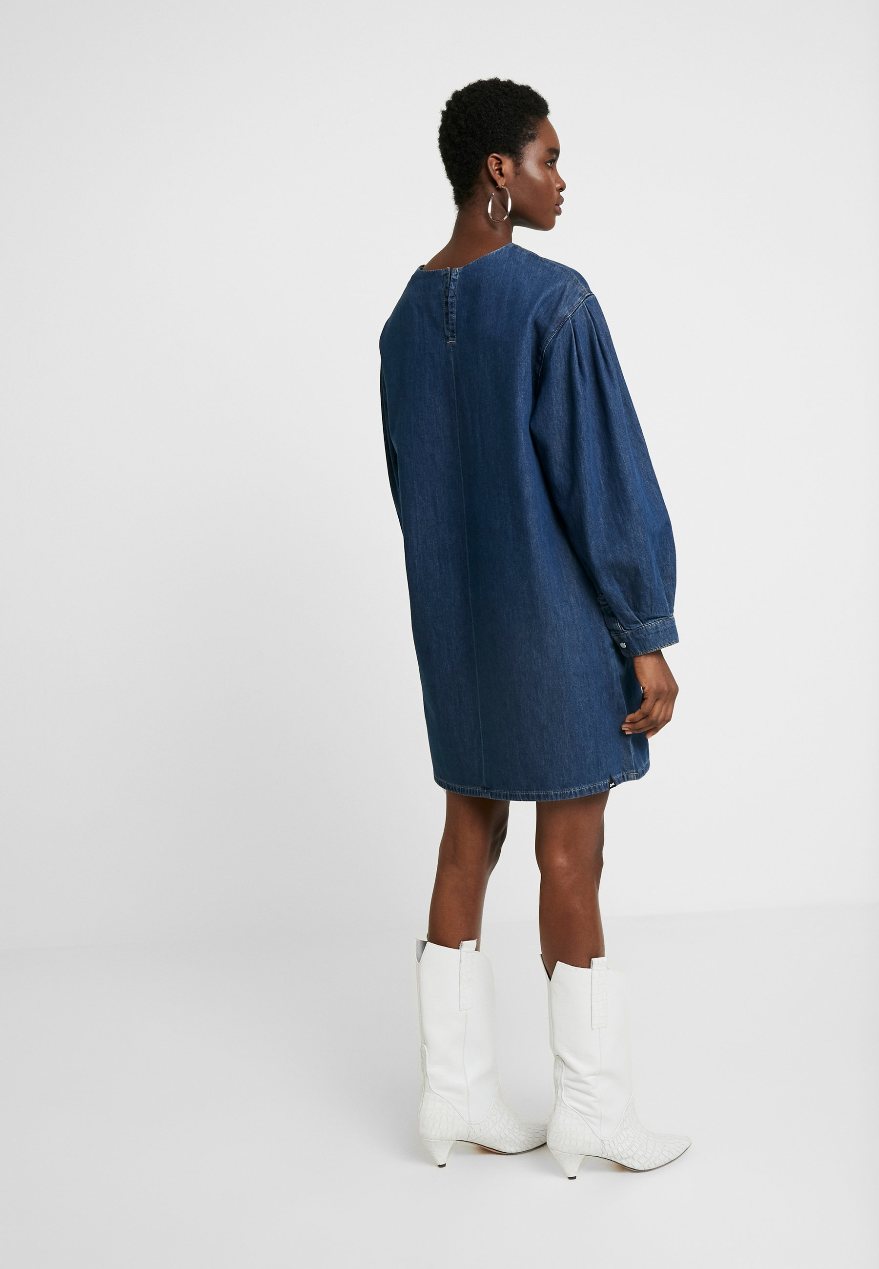 Denham Ashi Dress - Jeansklänning Dark Indigo