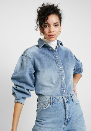 ASHI HIS - Button-down blouse - pale indigo