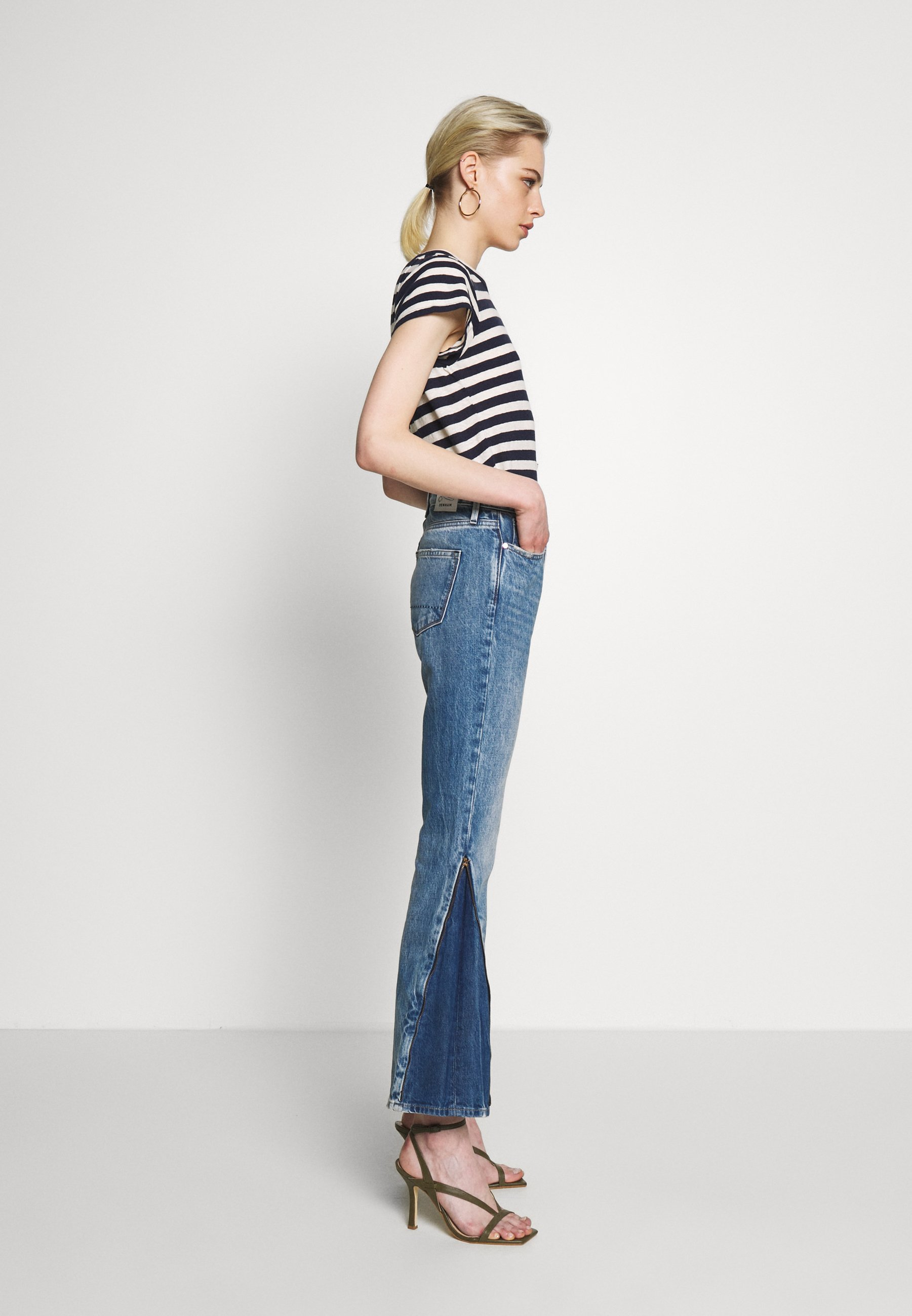 Denham Heidi Zip Florida - Straight Leg -farkut Blue