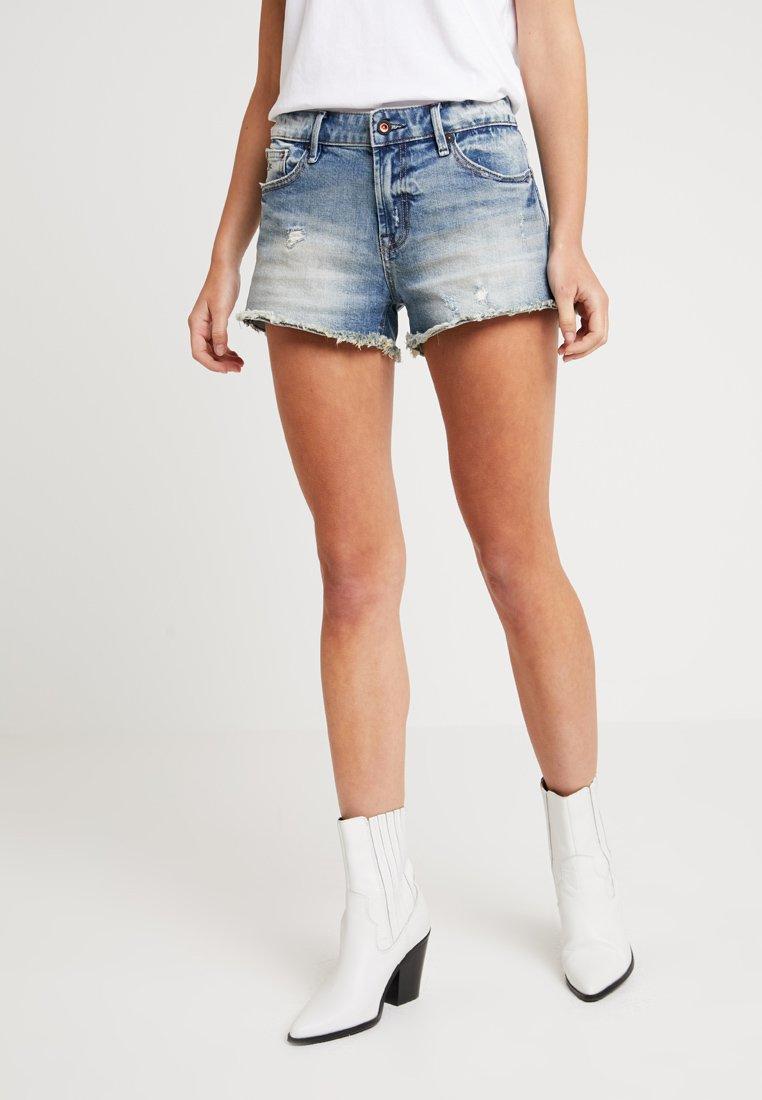 Denham - MONROE - Shorts vaqueros - blue
