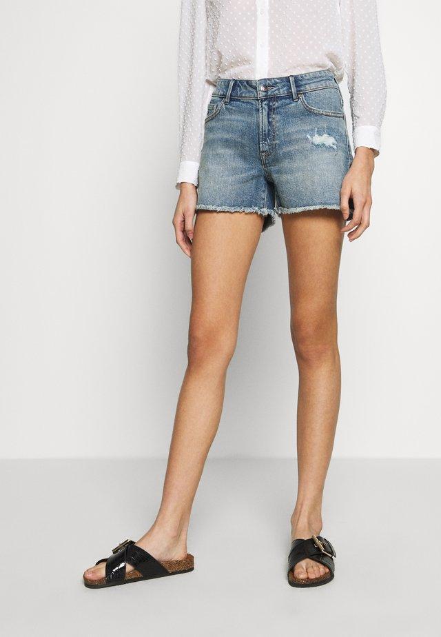 MONROE - Szorty jeansowe - blue
