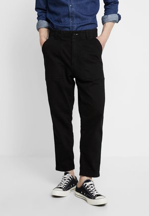 FATIGUE TROUSER - Jeansy Relaxed Fit - black