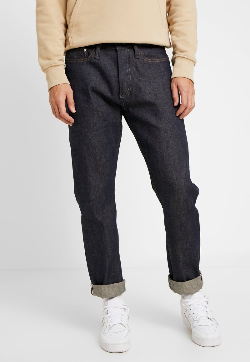 Denham - CROP SELVAGE - Jeans Relaxed Fit - blue