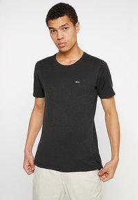 Denham - INGO TEE - Basic T-shirt - licorice black - 0