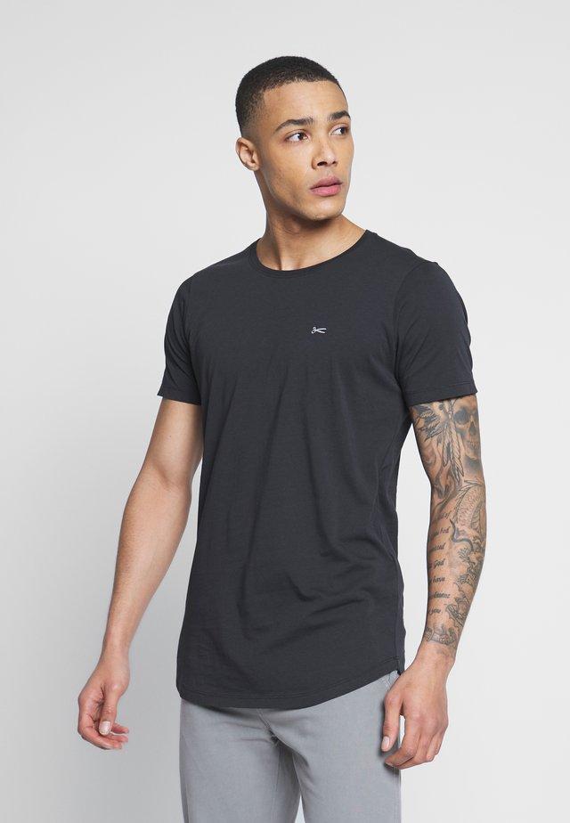 LUIS LONGLINE TEE - T-shirt - bas - black