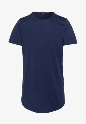 LUIS LONGLINE TEE - Jednoduché triko - mediaval blue