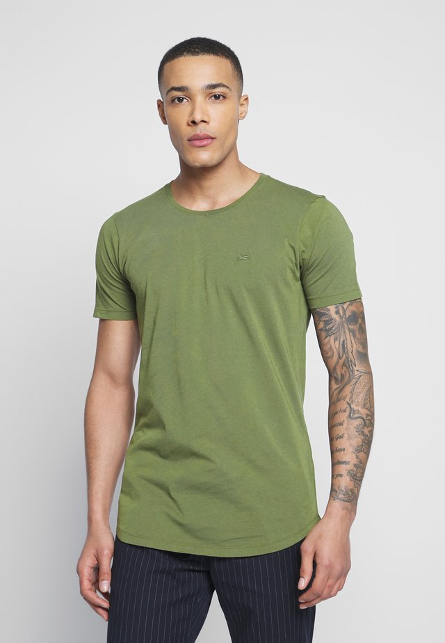 LUIS LONGLINE TEE - T-shirts basic - army green