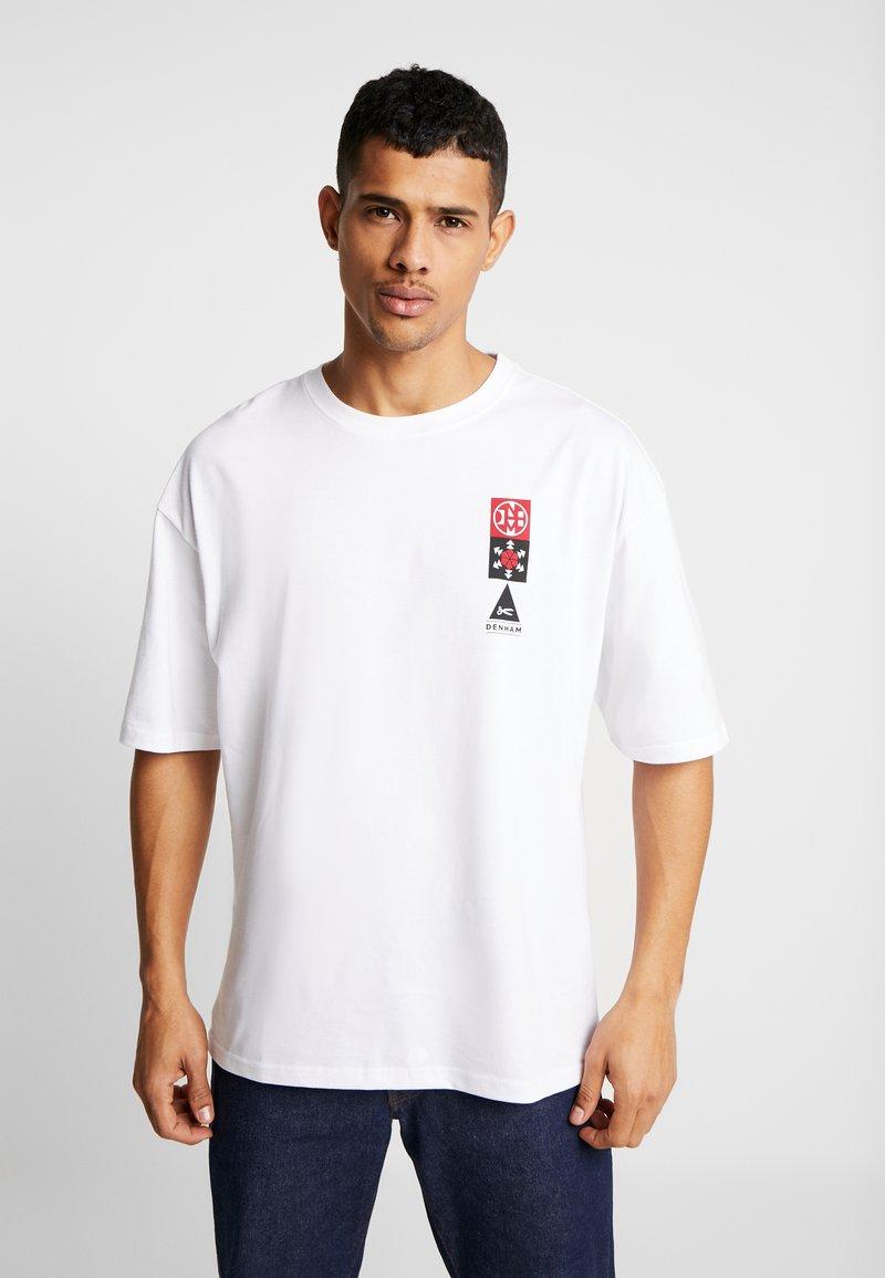 Denham - SAPPORO TEE - Print T-shirt - bright white