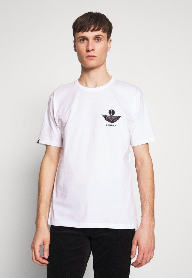SOUVENIR TEE - T-shirt z nadrukiem - white