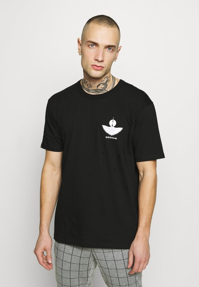 SOUVENIR TEE - T-shirt med print - shadow black