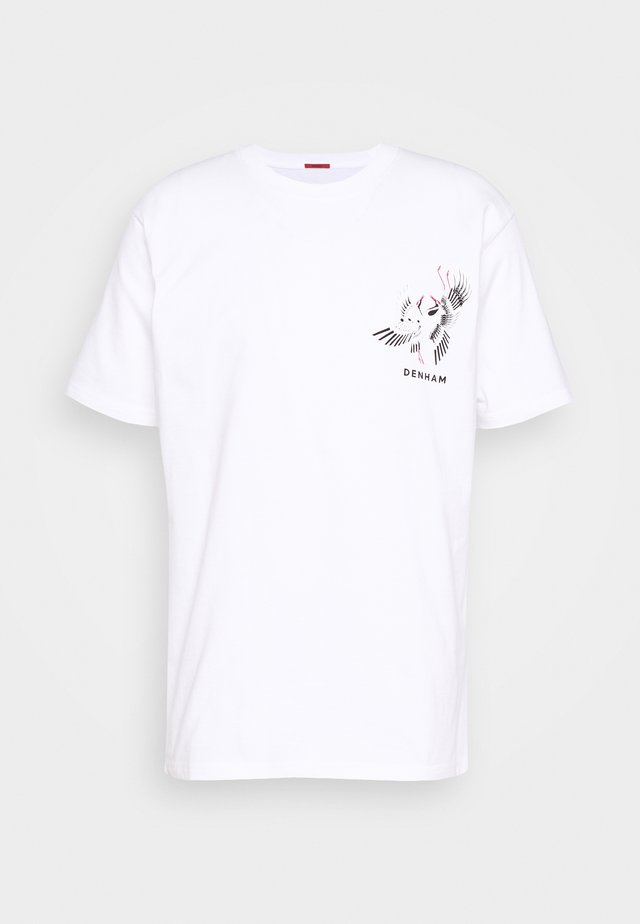 CRANE TEE - T-shirt print - bright white