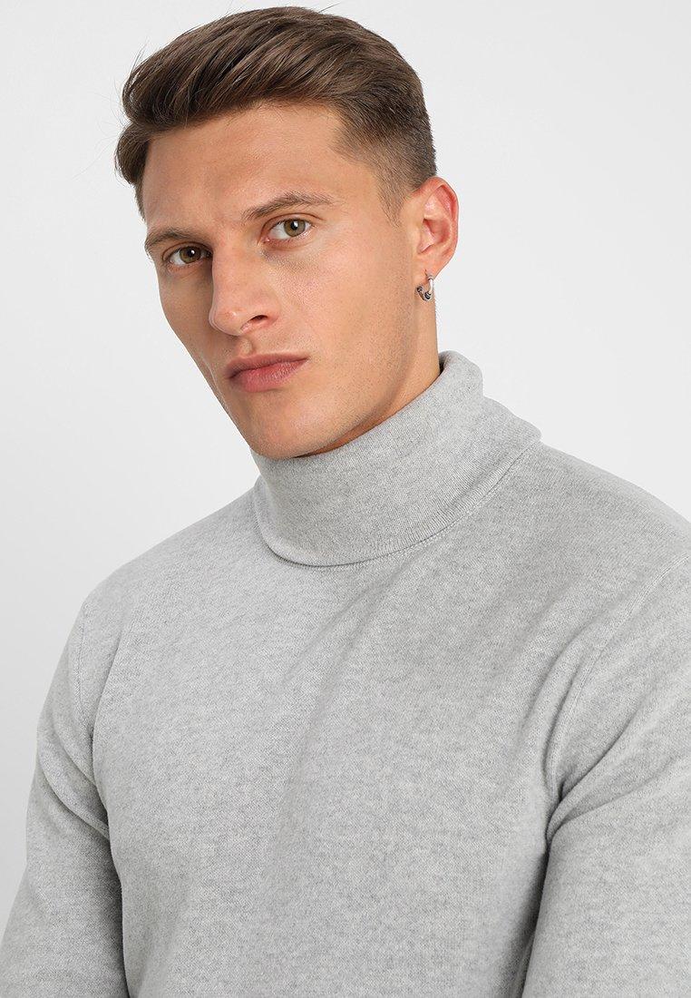 Denham Tab Roll - Pullover Grey Marl