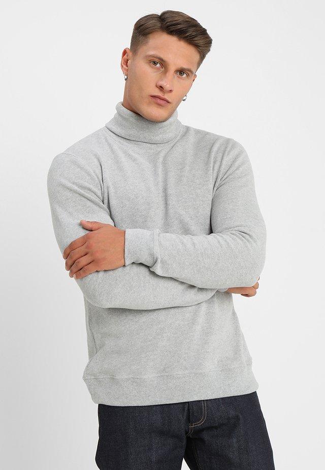 TAB ROLL - Strickpullover - grey marl