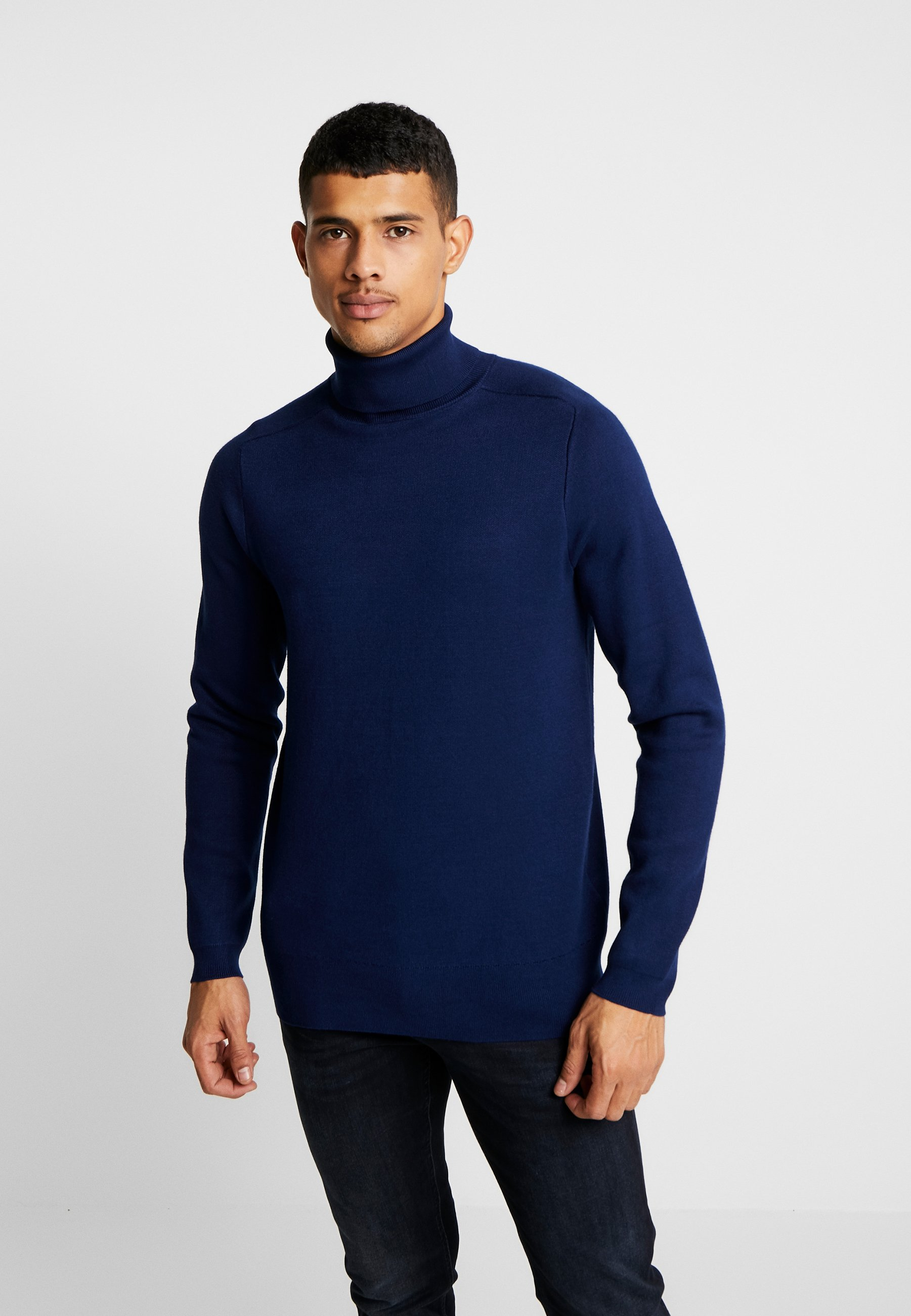 Denham WALL HIGH NECK - Sweter - medieval blue