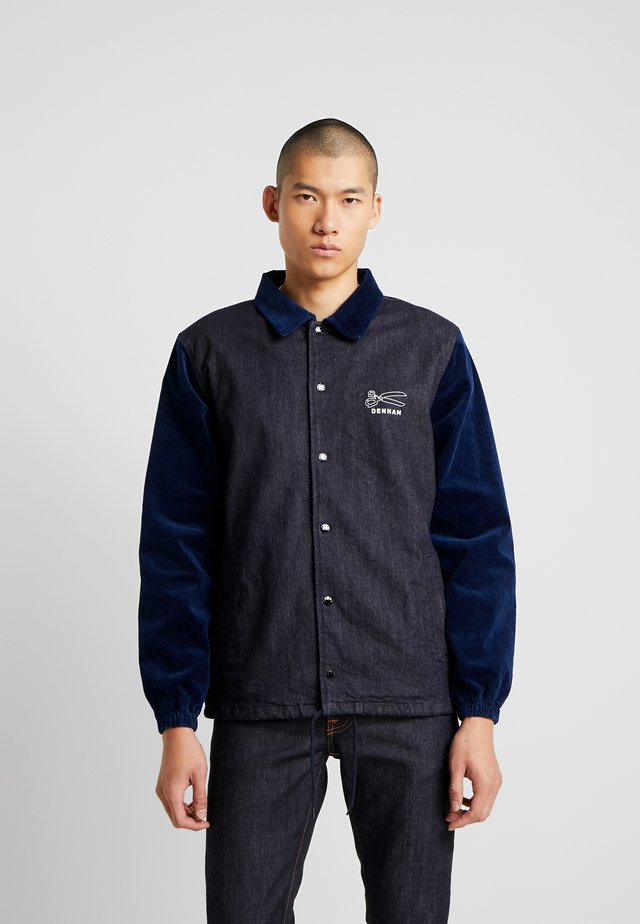 COACH JACKET - Jeansjakke - blue