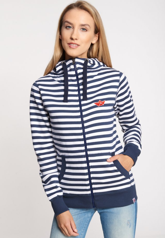 EASY SEA - Zip-up hoodie - navy